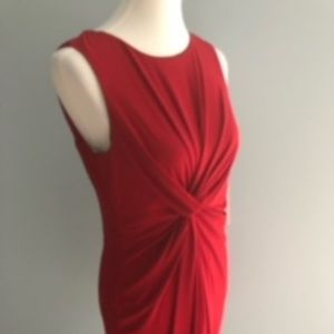 NWT Taylor Red Sleeveless Dress w/Twist Front 12P